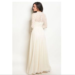 d08dd3e5f130 Dresses | Long Sleeve Crochet High Neck Maxi Gown | Poshmark